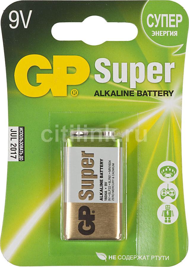 Батарея GP Super Alkaline 1604A 6LR61,  1 шт. 9V,  550мAч