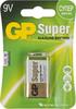 9V Батарейка GP Super Alkaline 1604A 6LR61,  1 шт. 550мAч вид 1