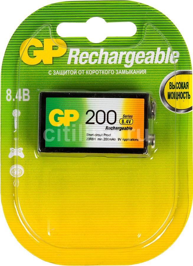 9V Аккумулятор GP 20R8H,  1 шт. 200мAч