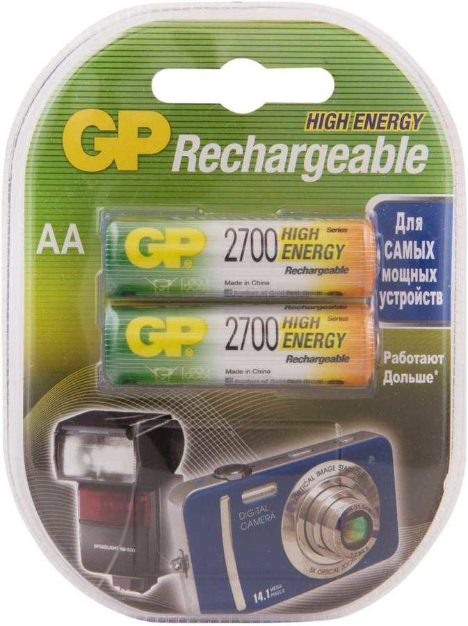 Аккумулятор GP 270AAHC,  2 шт. AA,  2700мAч