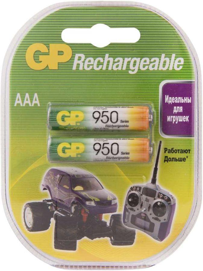 Аккумулятор GP 95AAAHC,  2 шт. AAA,  950мAч
