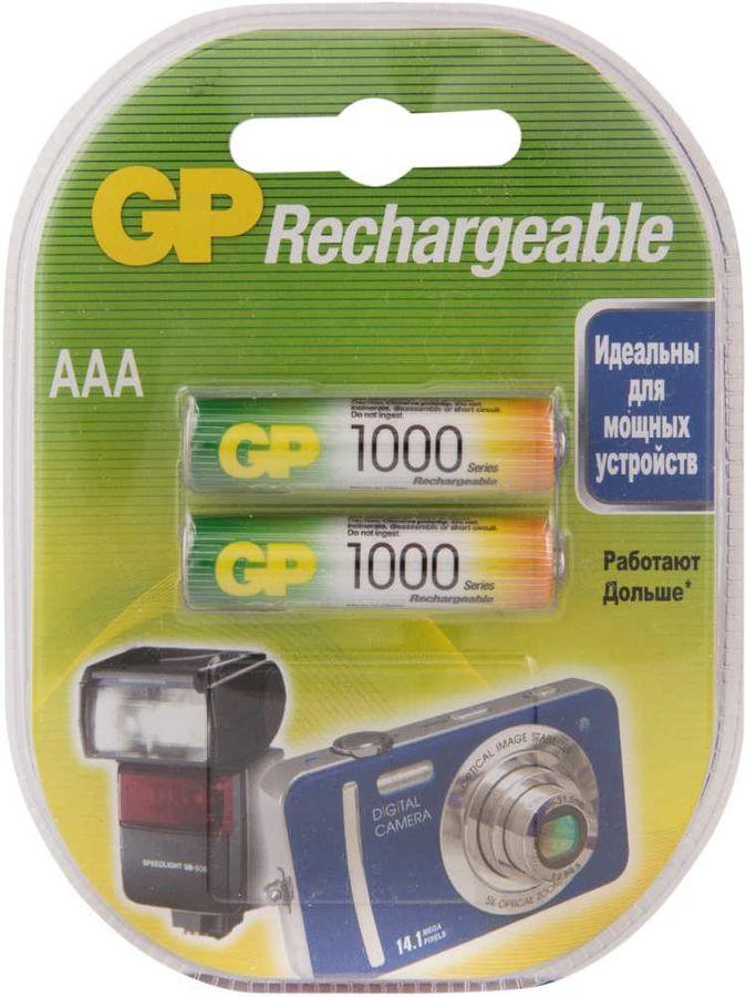 AAA Аккумулятор GP 100AAAHC,  2 шт. 1000мAч
