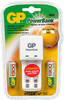 Аккумулятор + зарядное устройство GP PowerBank KB02GS130-CR2,  2 шт. AA,  1300мAч вид 1