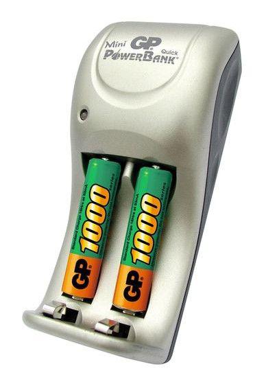 Аккумулятор + зарядное устройство GP PowerBank GPPB25GS100-2CR2,  2 шт. AAA,  1000мAч