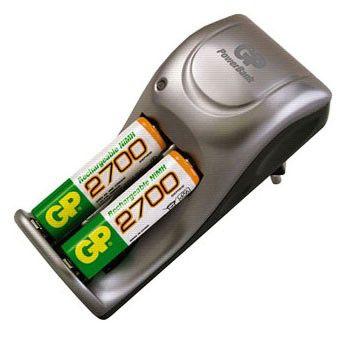 Аккумулятор + зарядное устройство GP PowerBank PB25-GS270-CR2,  2 шт. AA,  2700мAч
