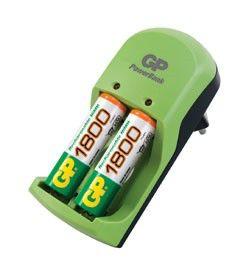 Аккумулятор + зарядное устройство GP PowerBank PB360GS210RA-2UE2,  2 шт. AA,  2100мAч