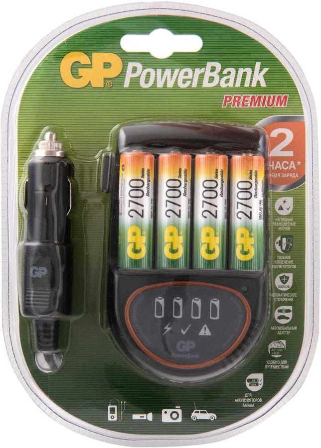 AA Аккумулятор + зарядное устройство GP PowerBank PB50GS270CA,  4 шт. 2700мAч