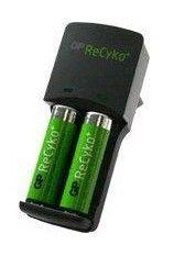 Аккумулятор + зарядное устройство GP Recyko AR04-BC2,  2 шт. AA,  2100мAч