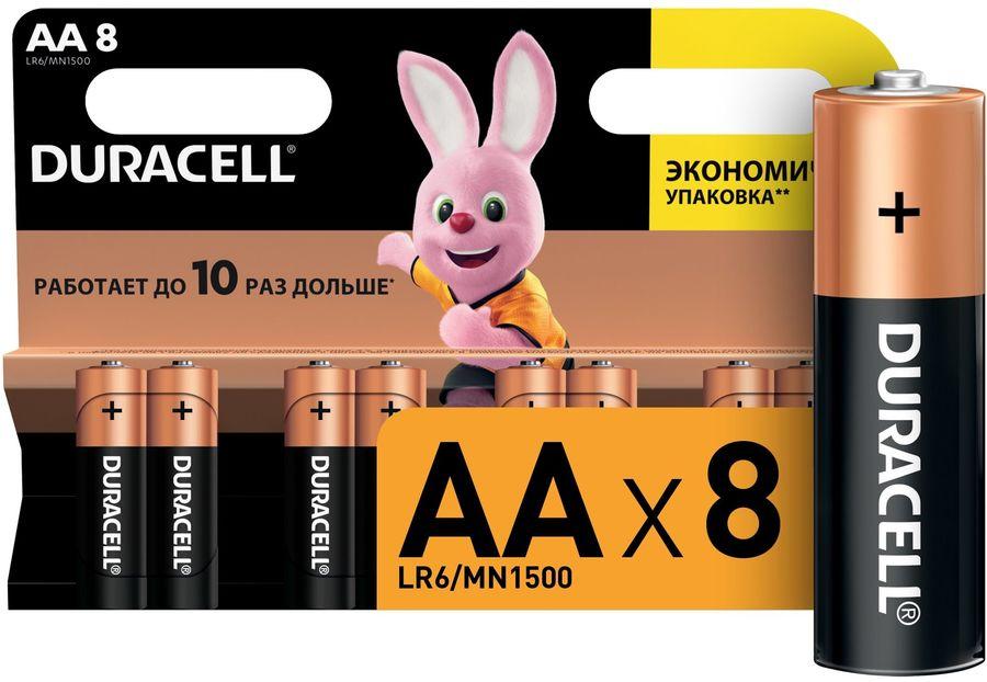 Батарея DURACELL Basic LR6-8BL,  8 шт. AA