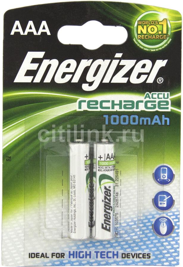 Аккумулятор ENERGIZER HR03,  2 шт. AAA,  1000мAч
