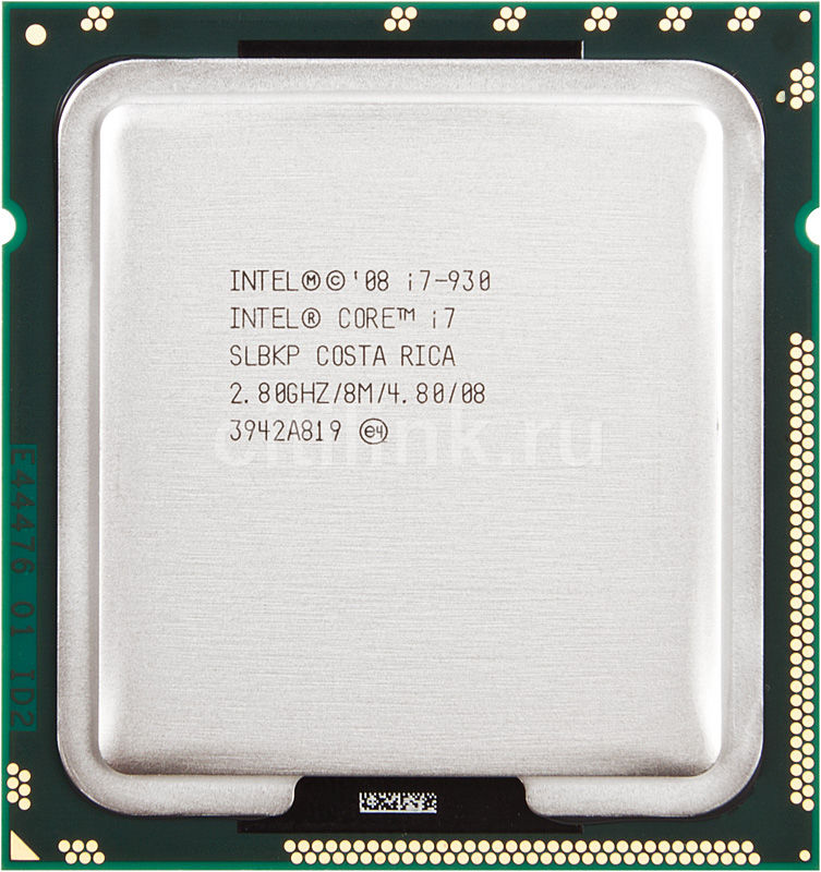 Процессор INTEL Core i7 930, LGA 1366 OEM [at80601000897aas lbkp]