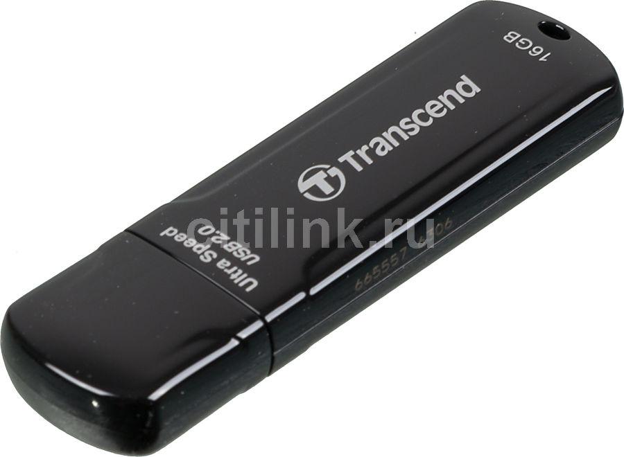 Флешка USB TRANSCEND Jetflash 600 16Гб, USB2.0, черный [ts16gjf600]