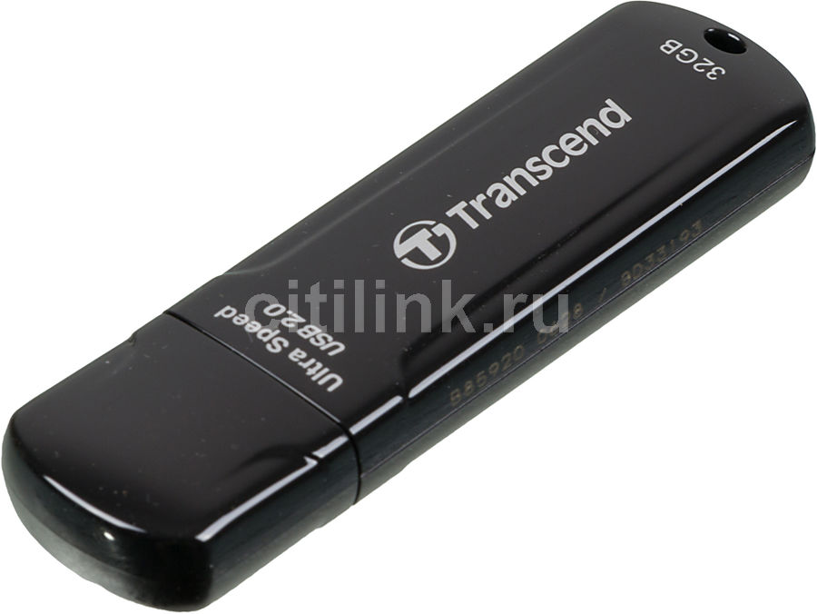 Флешка USB TRANSCEND Jetflash 600 32Гб, USB2.0, черный [ts32gjf600]