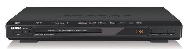 DVD-плеер BBK DV610SI,  черный,  диск 500 песен