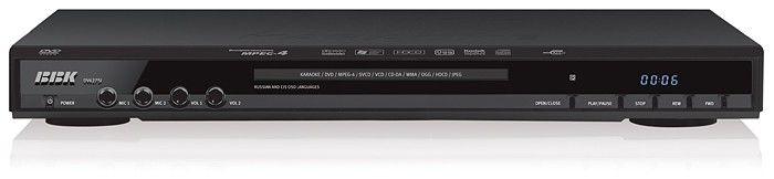 DVD-плеер BBK DV627SI,  черный,  диск 500 песен