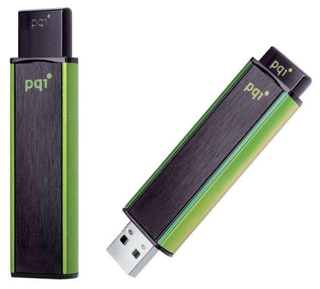 Флешка USB PQI Cool Drive U350H 4Гб, USB2.0, черный и зеленый