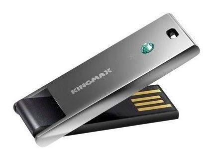 Флешка USB KINGMAX Classic Super stick Star 4Гб, USB2.0, серый
