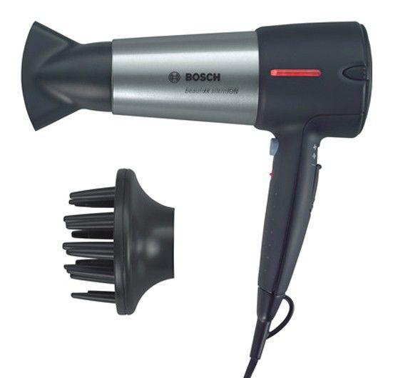 Фен BOSCH PHD7960, 2200Вт, черный и серый