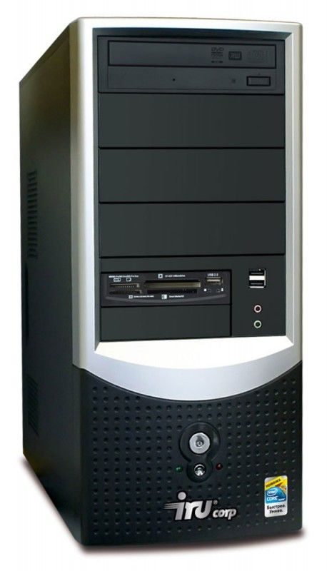 IRU Corp 310,  Intel  Celeron Dual-Core  E3200,  DDR2 1Гб, 160Гб,  Intel GMA X3100,  Windows 7 Professional,  черный