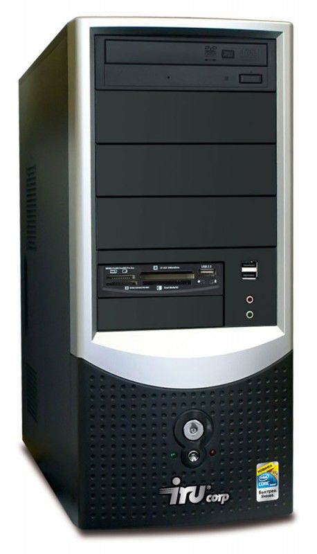 IRU Corp 510,  Intel  Core i3  530,  2Гб, 320Гб,  Intel HD Graphics,  DVD-RW,  CR,  noOS,  черный