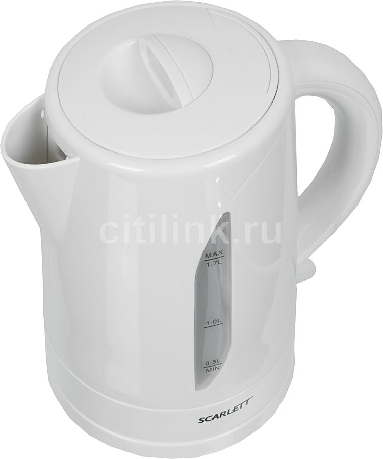 Чайник электрический SCARLETT SC-1023, 2200Вт, белый