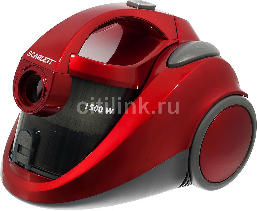 Пылесос SCARLETT SC-281, 1500Вт, красный