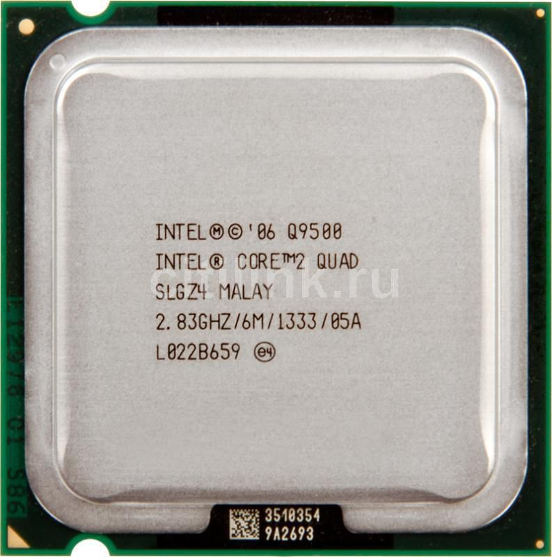 Процессор INTEL Core 2 Quad Q9500, LGA 775 OEM [cpu intel lga775 c2d q9500 oem]