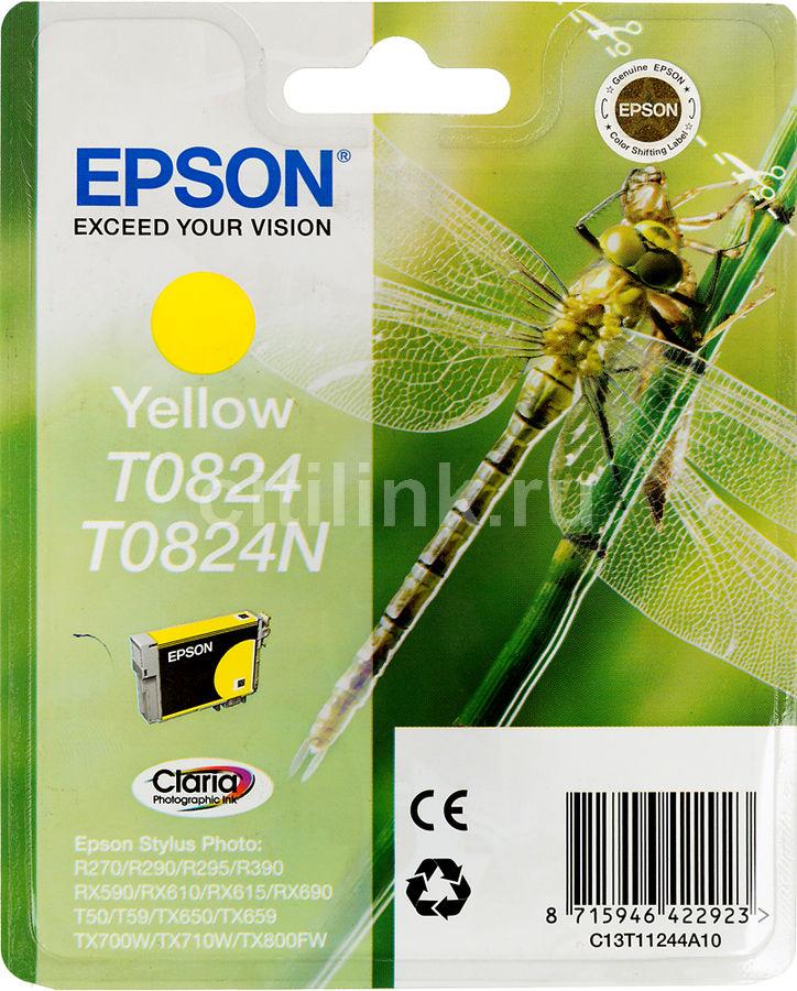 Картридж EPSON T0824 желтый [c13t11244a10]