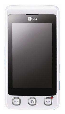 Мобильный телефон LG KP 500  белый