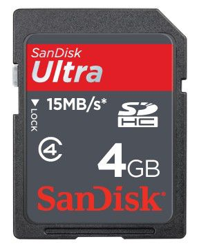 Карта памяти SDHC SANDISK Ultra II 4 ГБ, SDSDH-004G-E11,  1 шт.