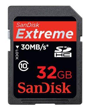 Карта памяти SDHC SANDISK Extreme III 32 ГБ, 200X, SDSDX3-032G-E31,  1 шт.