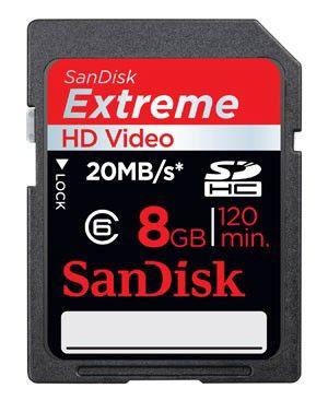 Карта памяти SDHC SANDISK Extreme III 8 ГБ, SDSDRX3-8192-E21,  1 шт.