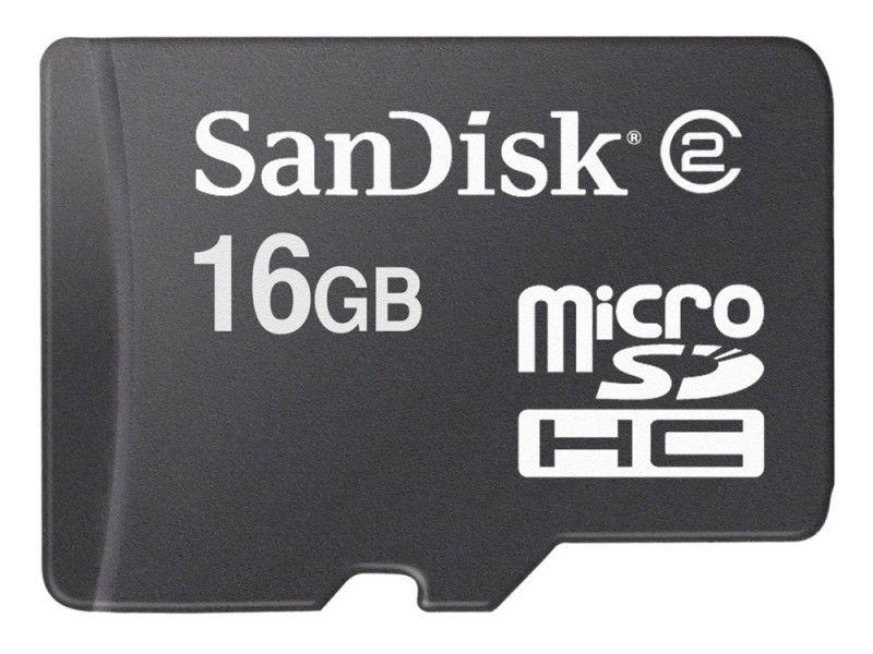 Карта памяти microSDHC SANDISK 16 ГБ, Class 2, SDSDQ-016G-E11M,  1 шт.