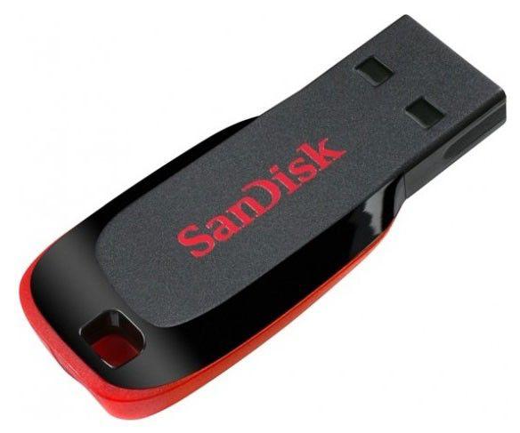 Флешка USB SANDISK Cruzer Blade 8Гб, USB2.0, черный и красный [sdcz50-008g-e95]