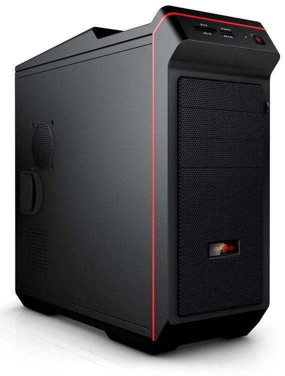 Корпус ATX FOXCONN TP-G007, без БП,  черный и красный