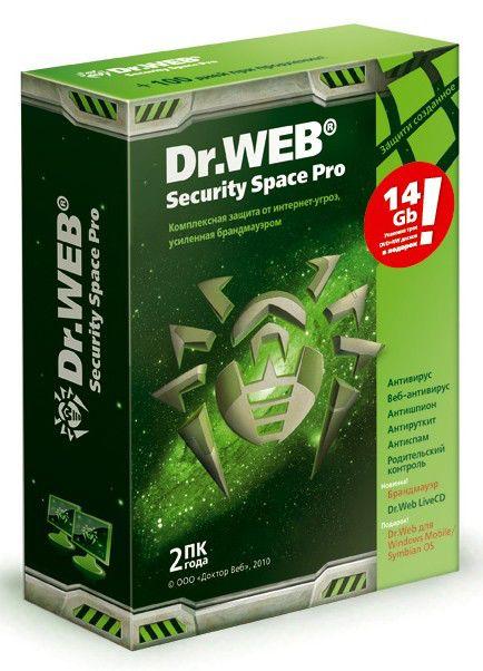 ПО Dr.Web Security Space PRO + файервол на 24 месяцa, на 2 ПК (BFW-W24-0002-1) BFW-W24-0002-1