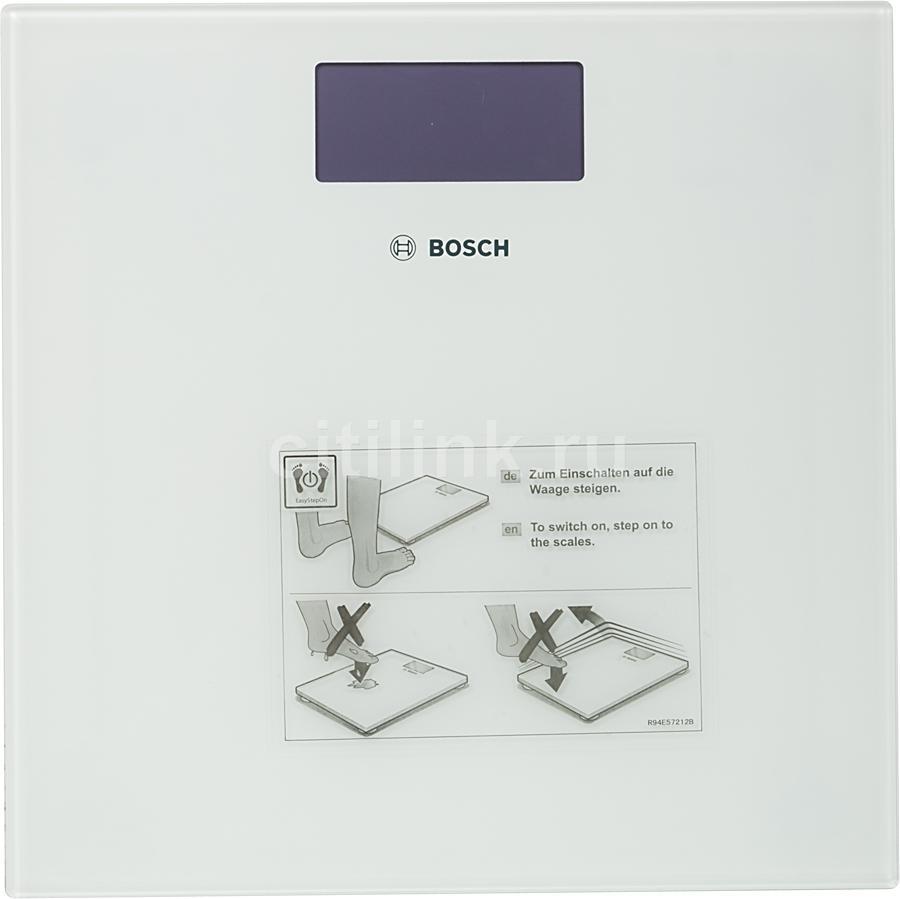 Весы BOSCH PPW3300, до 180кг, цвет: белый