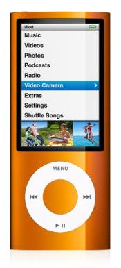 MP3 плеер APPLE iPod Nano flash 8Гб оранжевый [mc046]