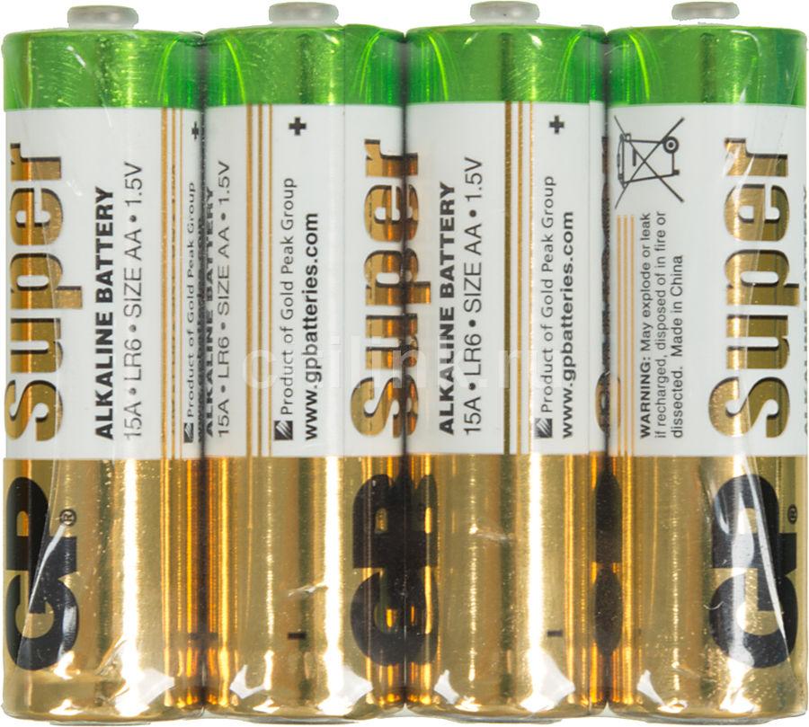 Батарейка GP Super Alkaline 15ARS LR6,  4 шт. AA