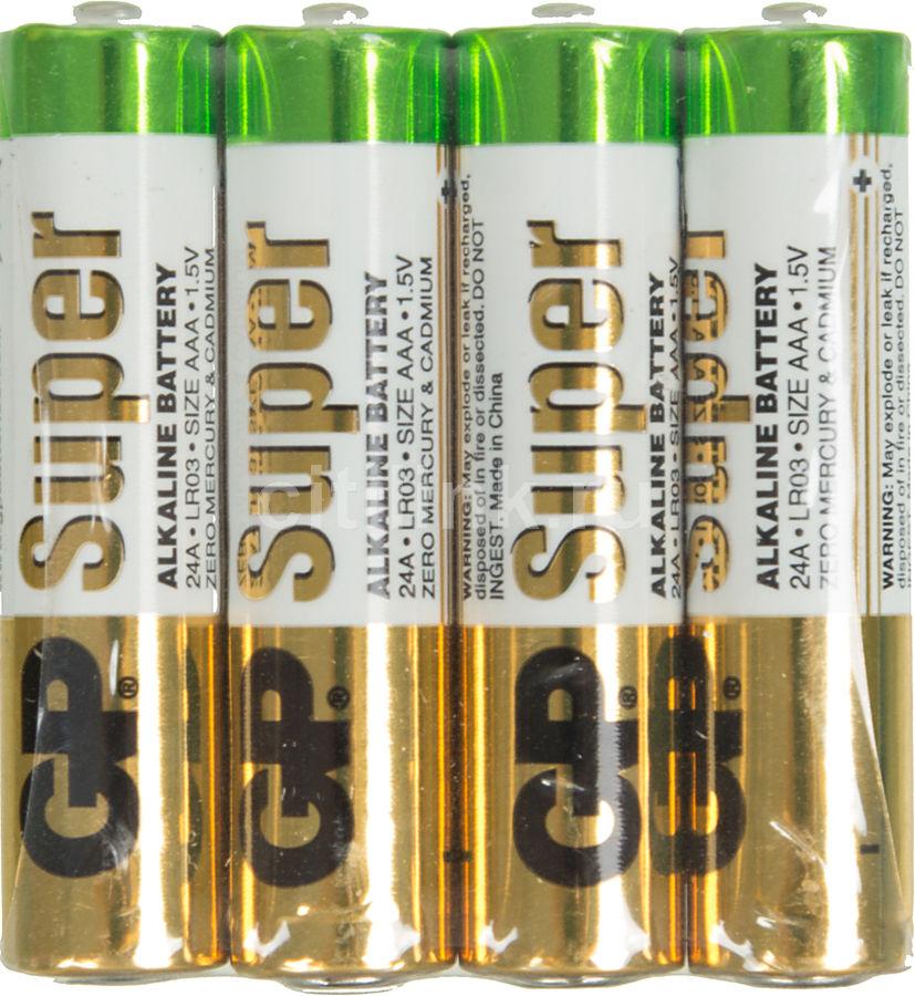 Батарейка GP Super Alkaline 24ARS LR03,  4 шт. AAA