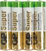Батарейка GP Super Alkaline 24ARS LR03,  4 шт. AAA вид 1