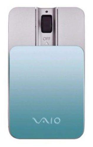 Мышь SONY VAIO VGP-BMS15/L лазерная беспроводная голубой и серебристый [vgp-bms15/l.ce]