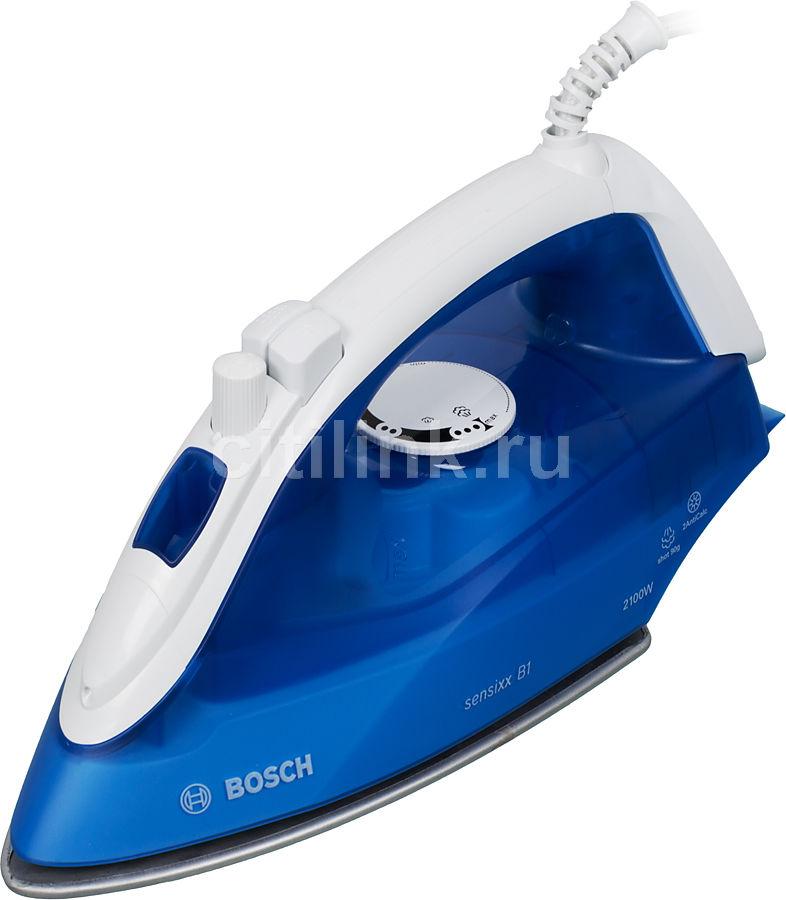Утюг BOSCH TDA2610,  2100Вт,  голубой/ белый