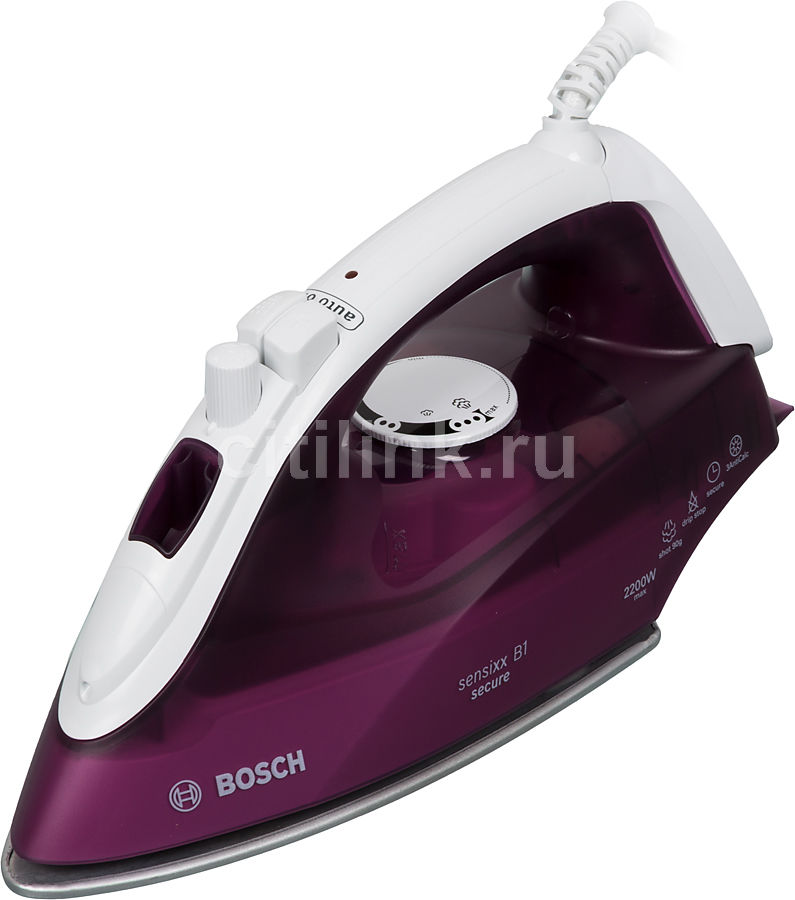 Утюг BOSCH TDA2630,  2200Вт,  сиреневый/ белый