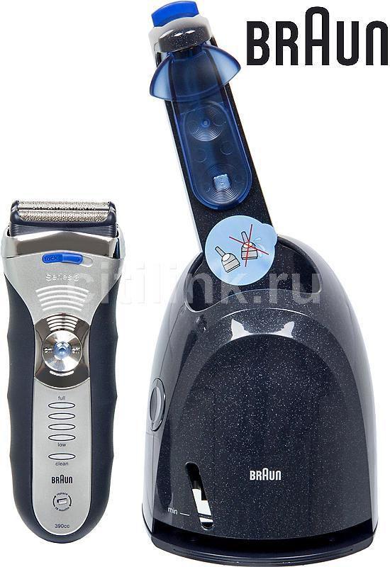 Электробритва BRAUN Series 3 390 CC-4,  серебристый и черный