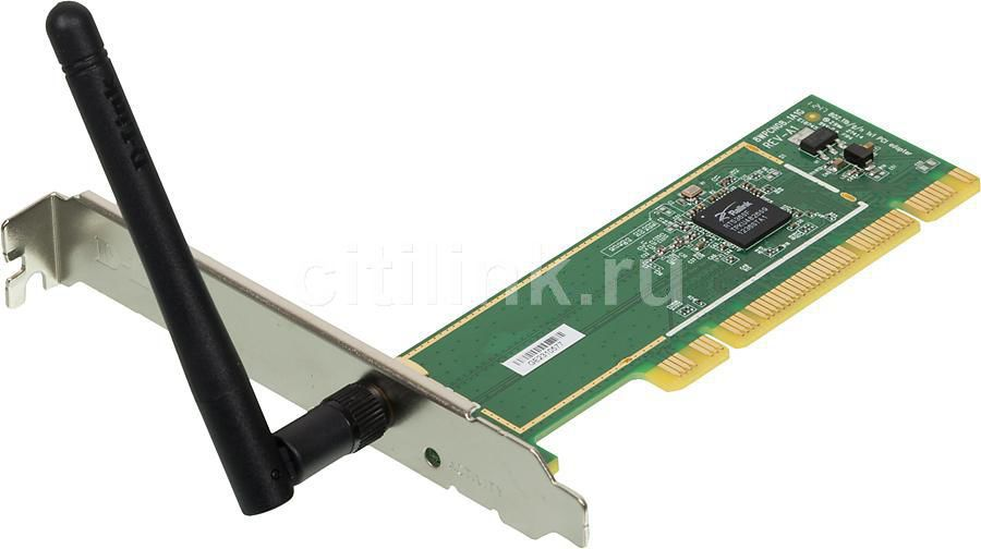 Сетевой адаптер WiFi D-LINK DWA-525 PCI