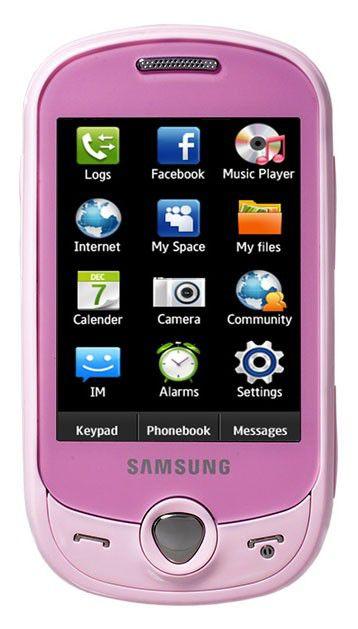 Мобильный телефон SAMSUNG GT-C3510  розовый