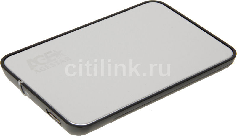 Внешний корпус для  HDD/SSD AGESTAR 3UB2A8, серебристый