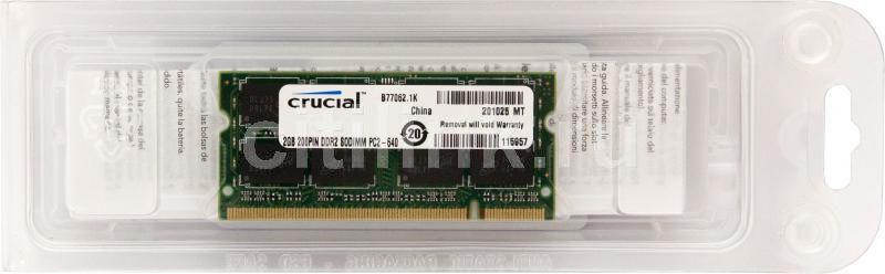 Модуль памяти CRUCIAL CT25664AC800 DDR2 -  2Гб 800, SO-DIMM,  Ret