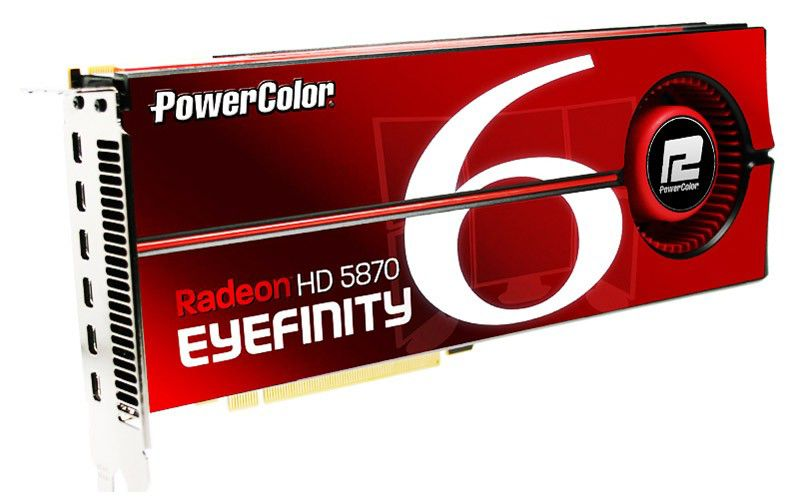 Видеокарта POWERCOLOR HD5870 Eyefinity 6 Edition,  2Гб, GDDR5, Ret